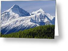 1m3627-mt. Outram And Mt. Forbes Greeting Card