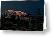 Mt Rainier At Dawn Greeting Card