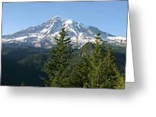 Mt. Rainier In Summer Greeting Card