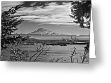 Mt. Rainier Over The Port Of Tacoma Greeting Card