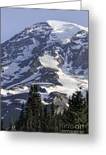 Mt Rainier Portrait Greeting Card