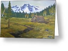 Mt Rainier Ranch Greeting Card