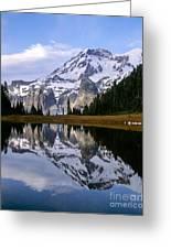 Mt. Rainier On Aurora Lake Greeting Card