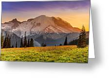 Mt. Rainier Sunset 2 Greeting Card