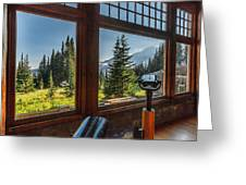 Mt. Rainier Visitor's Center Greeting Card