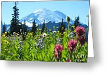 Mt. Rainier Wildflowers Greeting Card