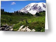 Mt. Ranier Greeting Card