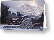 Mt Robson  Greeting Card