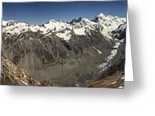 Mt Sefton Hooker Glacier And Mt Cook Greeting Card