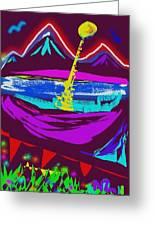 Mt. Shasta Moonlight Greeting Card