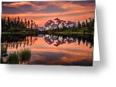 Mt. Shuksan - Picture Lake Greeting Card
