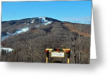 Mt Snow Vermont Greeting Card