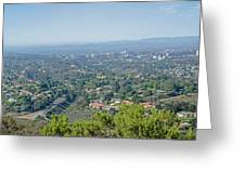 Mt. Soledad - View To The North Greeting Card