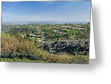 Mt. Soledad - View To The South Greeting Card
