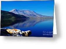 Mt St Helens Reflecting Into Spirit Lake   Greeting Card