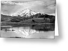 Mt. Tamalpais In Snow Greeting Card