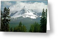 1m5505-mt. Thielsen In Clouds Greeting Card
