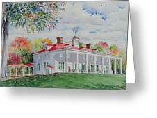 Mt. Vernon In The Fall Greeting Card