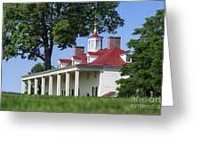 Mt Vernon Mansion Greeting Card