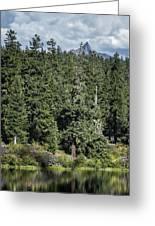 Mt Washington Behind Clear Lake Greeting Card