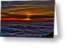 Mt Wilson Sunset 2 Greeting Card