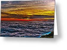 Mt Wilson Sunset Greeting Card