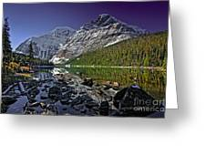 Mt.edith Cavell Greeting Card