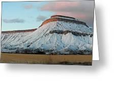 Mt.garfield Winter Greeting Card