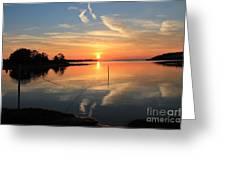 Mud Cove Sunset Greeting Card