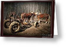 Mud Season - With Border Greeting Card