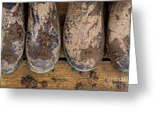 Muddy Boots On Deck Greeting Card