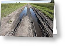 Muddy Country Road Greeting Card
