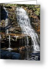 Muddy Creek Falls At Low Water At Swallow Falls State Park In Western Maryland Greeting Card