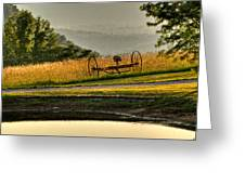 Muddy Pond Field Greeting Card