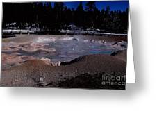 Mudpots Area I V Greeting Card