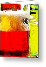 Mug Of Beer Painting Greeting Card