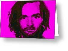 Mugshot Charles Manson M88 Greeting Card by Wingsdomain Art and Photography