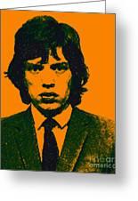 Mugshot Mick Jagger P0 Greeting Card by Wingsdomain Art and Photography