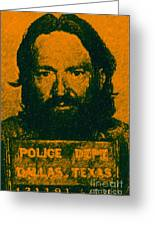 Mugshot Willie Nelson P0 Greeting Card by Wingsdomain Art and Photography