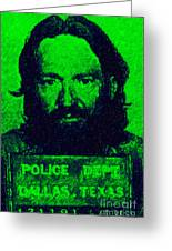 Mugshot Willie Nelson P88 Greeting Card by Wingsdomain Art and Photography