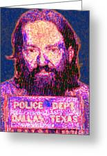 Mugshot Willie Nelson Painterly 20130328 Greeting Card by Wingsdomain Art and Photography