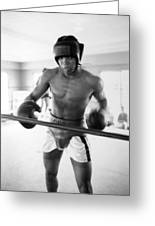 Muhammad Ali Training Inside Ring Greeting Card