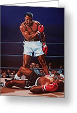 Muhammad Ali Versus Sonny Liston Greeting Card