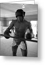 Muhammad Ali Works Out  Greeting Card by Retro Images Archive