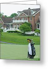 D12w-289 Golf Bag At Muirfield Village Greeting Card