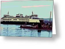 Mukilteo Clinton Ferry Panel 3 Of 3 Greeting Card