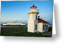Mukilteo Ferry And Lighthouse Greeting Card