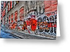 Mulberry Street Graffiti Greeting Card