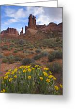 Mule Ears And The Three Gossips - 1 Greeting Card