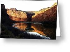 Mule Shoe Colorado River Greeting Card